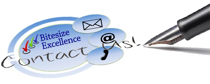 Contact us at Bitesize Excellence